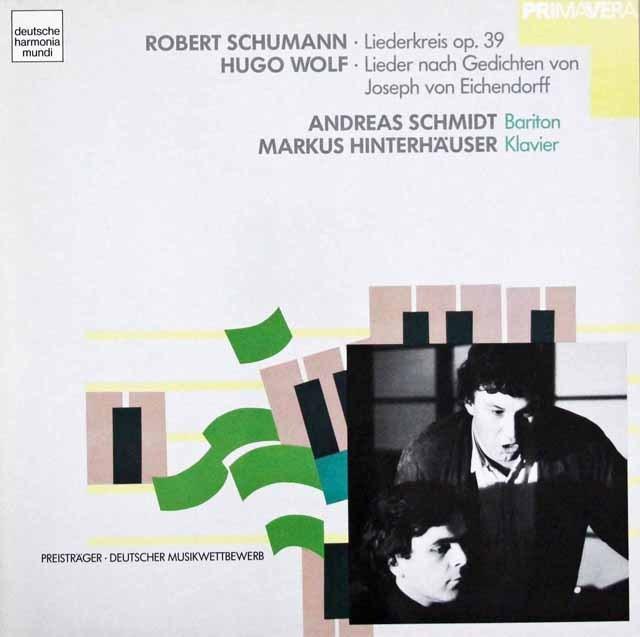 A.シュミットのシューマン/「リーダークライス」ほか 独HM 3396 LP レコード