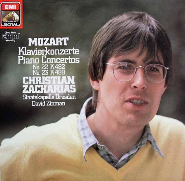 ツァハリアス&ジンマンのモーツァルト/ピアノ協奏曲第22&23番 独EMI 3396 LP レコード
