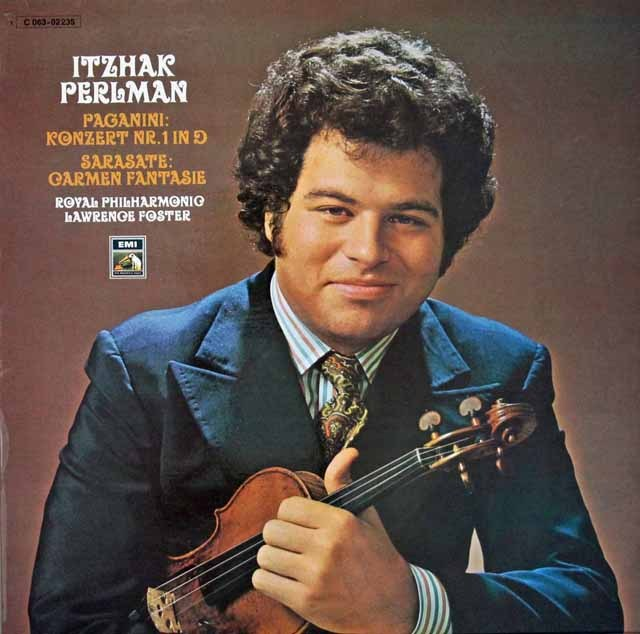 パールマンのパガニーニ/ヴァイオリン協奏曲第1番ほか 独EMI 3396 LP レコード