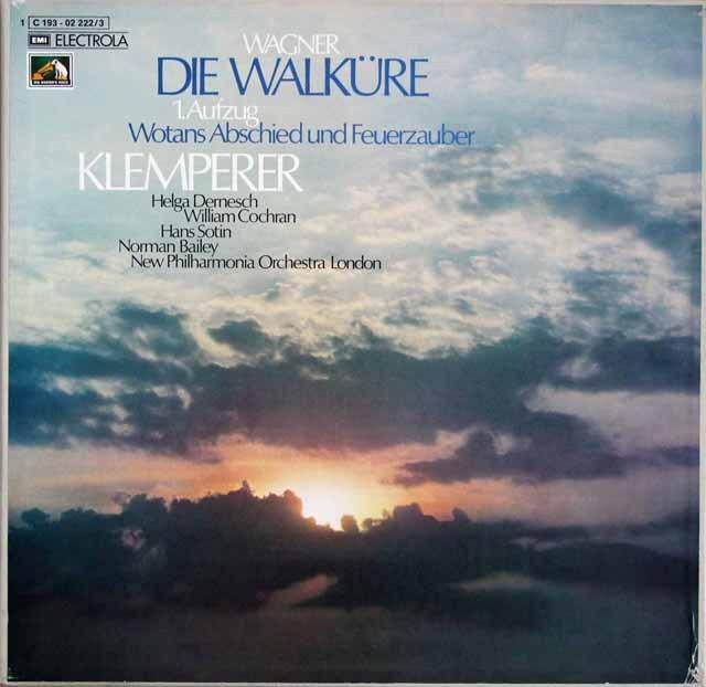 クレンペラーのワーグナー/「ワルキューレ」第1幕ほか 独EMI 3396 LP レコード