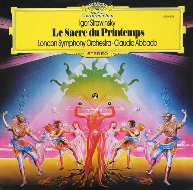 アバドのストラヴィンスキー/「春の祭典」 独DGG 3396 LP レコード