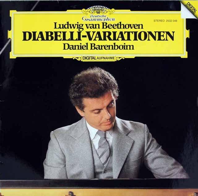 バレンボイムのベートーヴェン/ディアベリ変奏曲 独DGG 3396 LP レコード