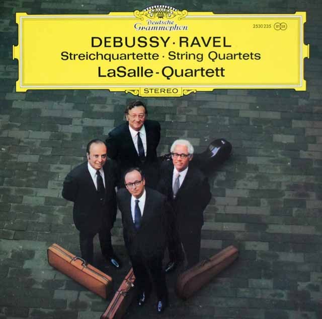 ラサール四重奏団のドビュッシー&ラヴェル/弦楽四重奏曲集   独DGG 2944 LP レコード