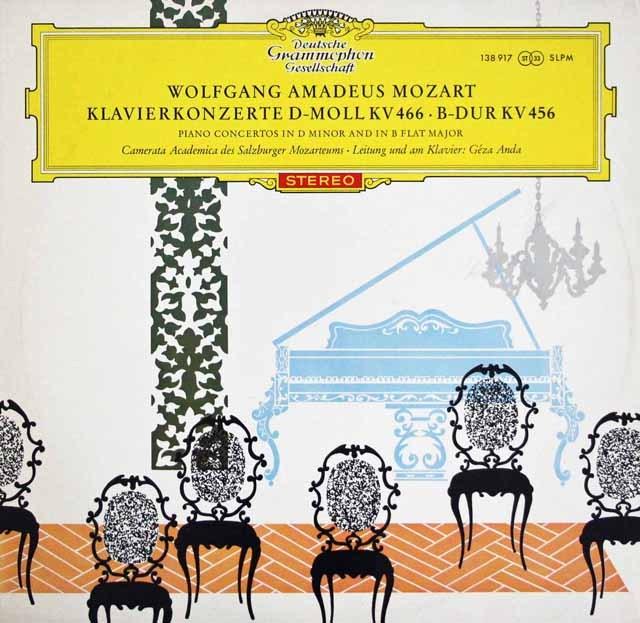 【赤ステレオ/独最初期盤】 アンダのモーツァルト/ピアノ協奏曲第18&20番 独DGG 3396 LP レコード