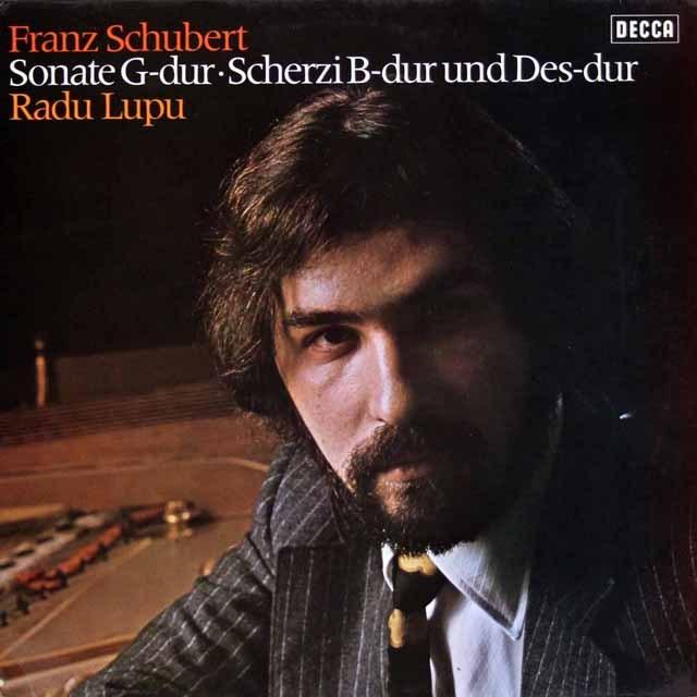 ルプーのシューベルト/ピアノソナタ第18番「幻想」ほか  独DECCA 2944 LP レコード