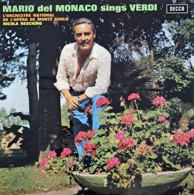 デル=モナコのヴェルディ/オペラ歌曲集  英DECCA 2944 LP レコード
