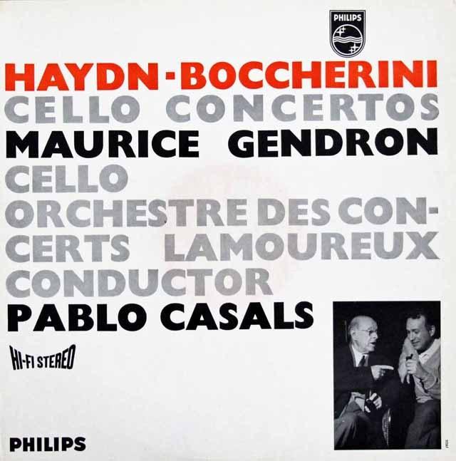 カザルス&ジャンドロンのハイドン&ボッケリーニ/チェロ協奏曲集 蘭PHILIPS 3396 LP レコード