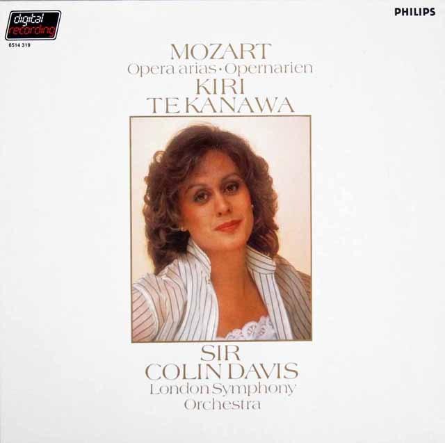 キリ・テ・カナワのモーツァルト/オペラアリア集  蘭PHILIPS 2944 LP レコード