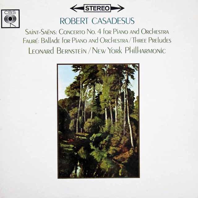 カサドシュ&バーンスタインのサン=サーンス&フォーレ/ピアノ協奏曲  英CBS 2944 LP レコード