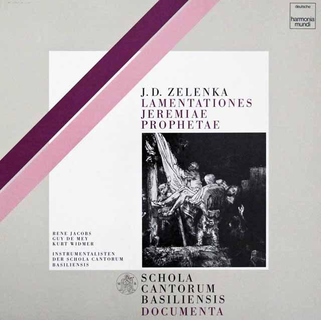 ヤーコプス&バーゼル・スコラ・カントルムのゼレンカ/「エレミアの哀歌」全曲  独HM 3395 LP レコード