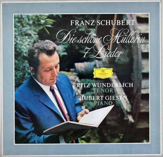 ヴンダーリヒのシューベルト/「水車小屋の娘」ほか 独DGG 3395 LP レコード
