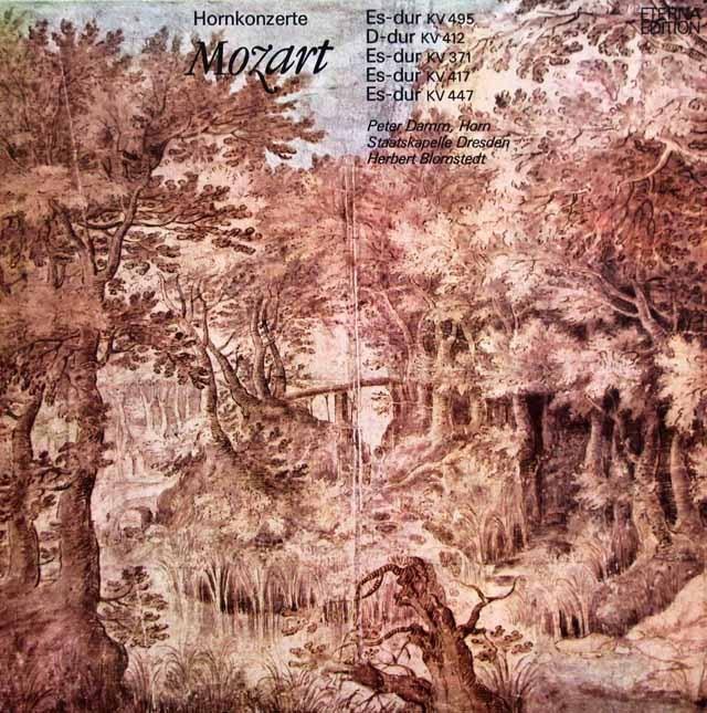 ダム&ブロムシュテットのモーツァルト/ホルン協奏曲集  独ETERNA 2945 LP レコード