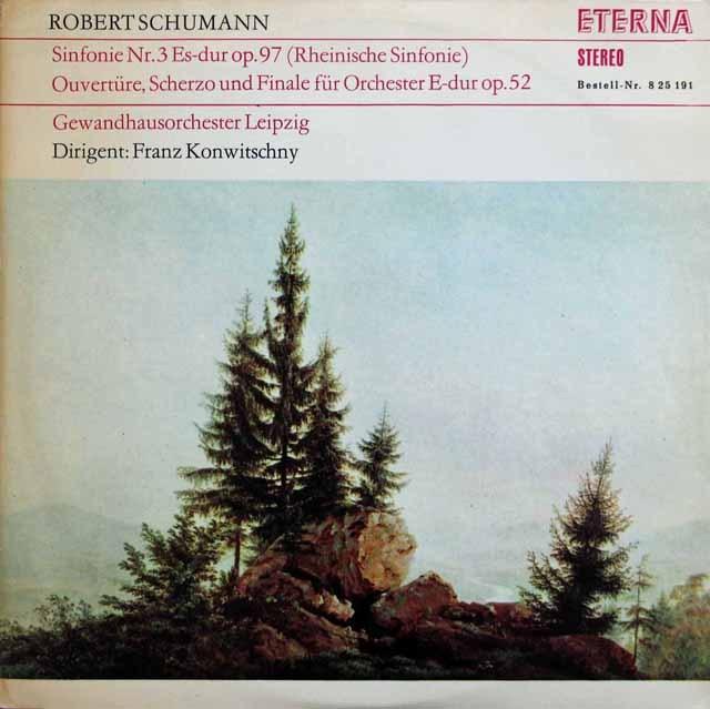 【テストプレス】コンヴィチュニーのシューマン/交響曲第3番「ライン」ほか  独ETERNA 2945 LP レコード