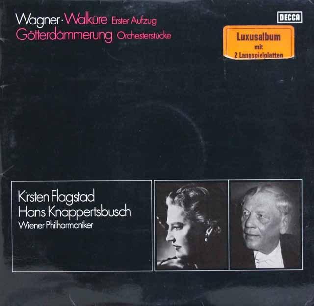 フラグスタート&クナッパーツブッシュのワーグナー/「ワルキューレ」第1幕ほか  独DECCA 2945 LP レコード