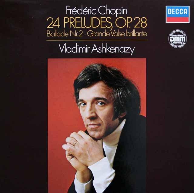 アシュケナージのショパン/24の前奏曲ほか  独DECCA 2945 LP レコード