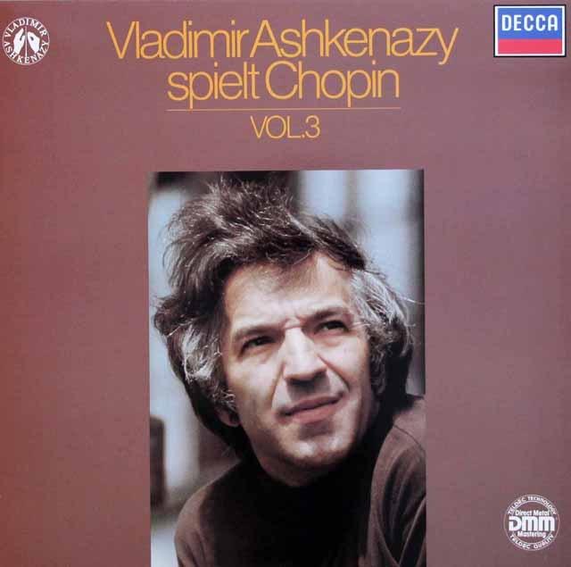 アシュケナージのショパン/ピアノ作品集 (3)  独DECCA 2945 LP レコード
