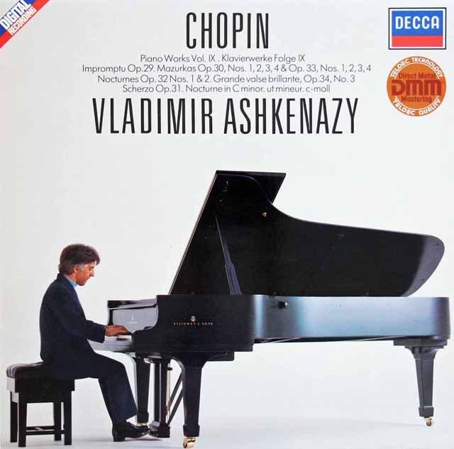 アシュケナージのショパン/ピアノ作品集 (9)  独DECCA 2945 LP レコード