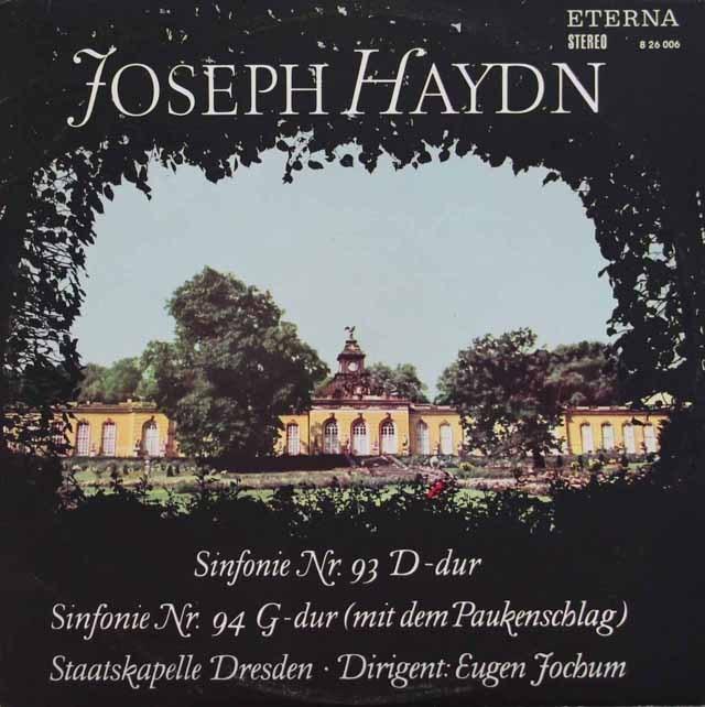 ヨッフムのハイドン/交響曲第93、94番「驚愕」  独ETERNA 3395 LP レコード