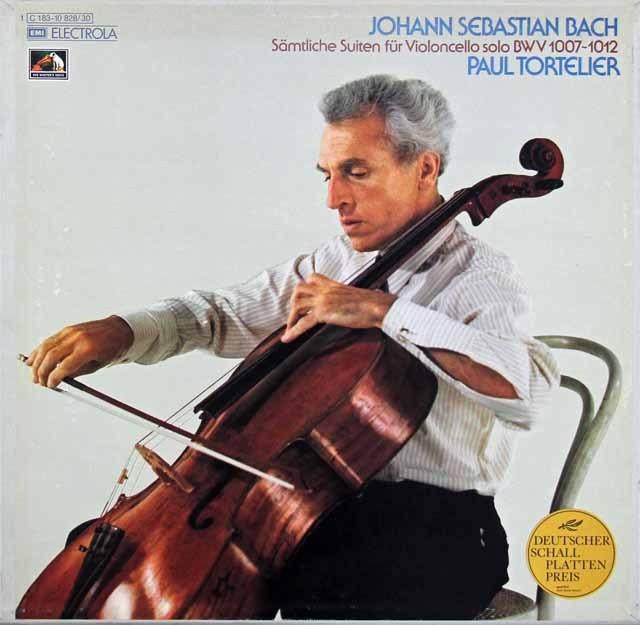 トルトゥリエのバッハ/無伴奏チェロ組曲全集  独EMI 2945 LP レコード