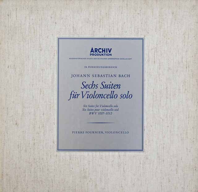 【テストプレス】フルニエのバッハ/無伴奏チェロ組曲全集  独ARCHIV 2945 LP レコード