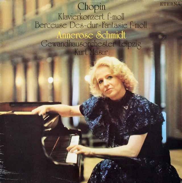 シュミット&マズアのショパン/ピアノ協奏曲第1番ほか   独ETERNA 2946 LP レコード