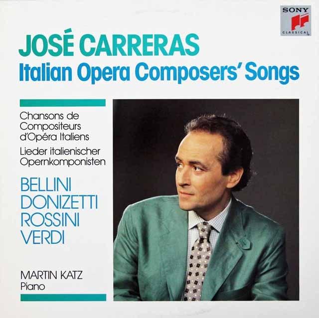 カレーラスのイタリア歌曲集  蘭SONY 2946 LP レコード