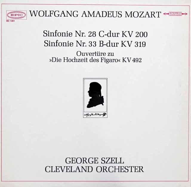 セルのモーツァルト/交響曲第28&33番ほか   独EPIC 2946 LP レコード