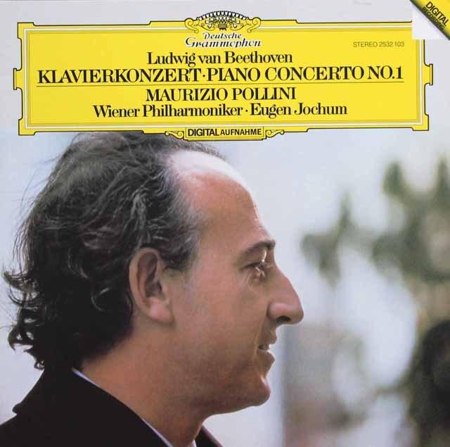 ポリーニ&ヨッフムのベートーヴェン/ピアノ協奏曲第1番 独DGG 3395 LP レコード