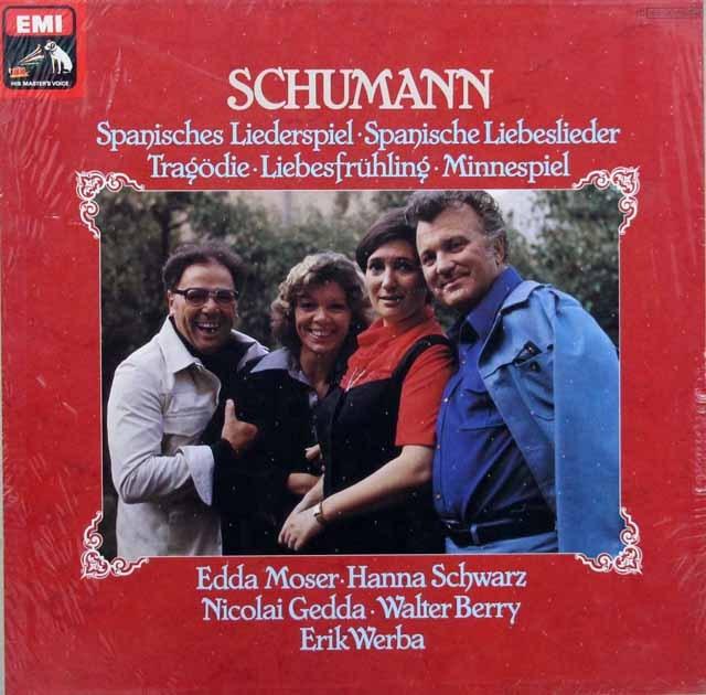 【未開封】 モーザー、シュヴァルツ、ゲッダ&ベリーのシューマン/歌曲集 独EMI 3395 LP レコード