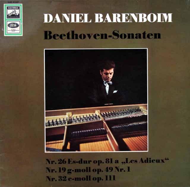 【独最初期盤】バレンボイムのベートーヴェン/ピアノソナタ第26番「告別」ほか  独EMI 2947 LP レコード