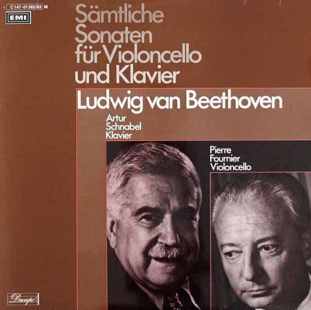 シュナーベル&フルニエのベートーヴェン/チェロソナタ全集    独EMI 2947 LP レコード
