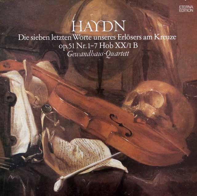 ゲヴァントハウス四重奏団のハイドン/「十字架上のキリストの最後の7つの言葉」    独ETERNA 2947 LP レコード