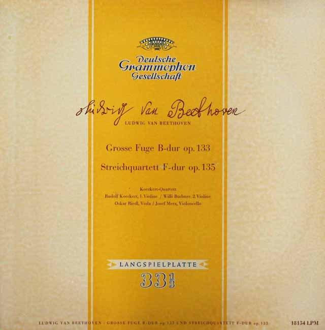 ケッケルト四重奏団のベートーヴェン/大フーガ&弦楽四重奏曲第16番    独DGG 2947 LP レコード