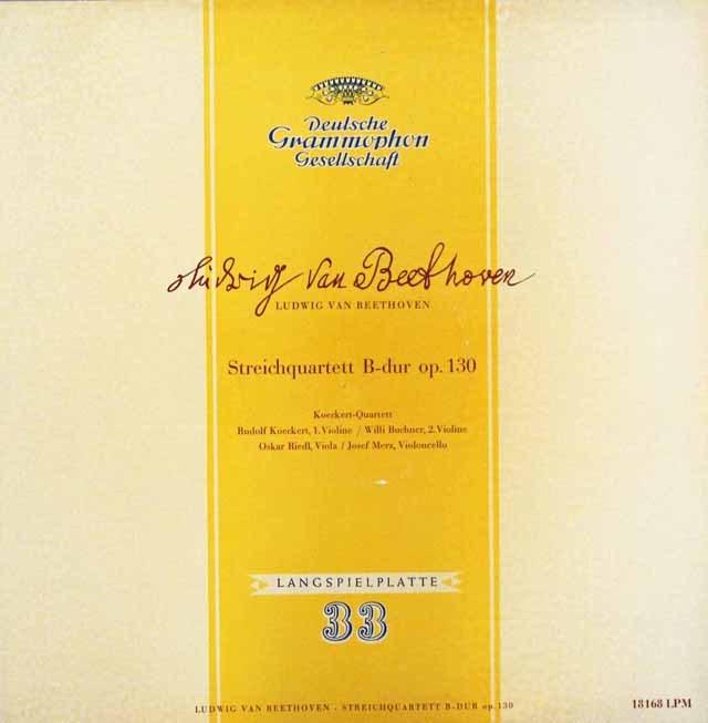ケッケルト四重奏団のベートーヴェン/弦楽四重奏曲第13番    独DGG 2947 LP レコード