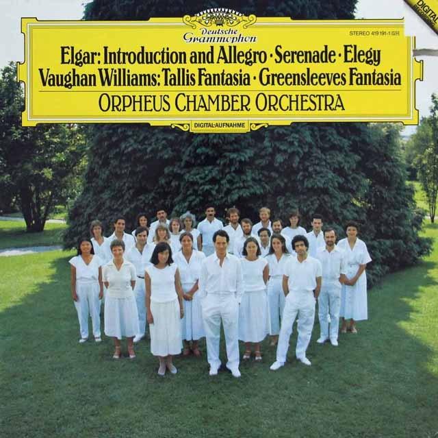 オルフェウス室内管弦楽団のエルガー/「序奏とアレグロ」ほか    独DGG 2947 LP レコード