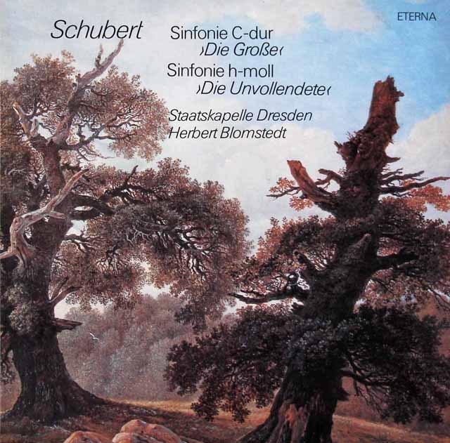 ブロムシュテットのシューベルト/交響曲第8番「ザ・グレイト」&第7番「未完成」    独ETERNA 2948 LP レコード