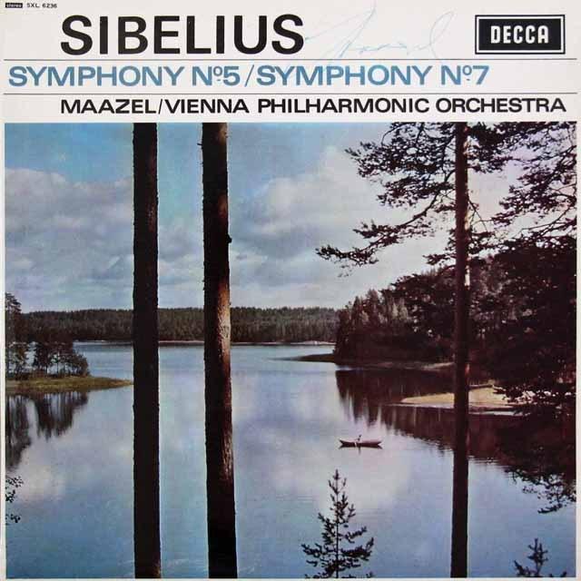 【直筆サイン入り】 マゼールのシベリウス/交響曲第5、7番 英DECCA 3395 LP レコード
