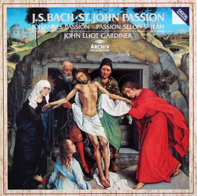 ガーディナーのバッハ/「ヨハネ受難曲」全曲 独ARCHIV 3395 LP レコード