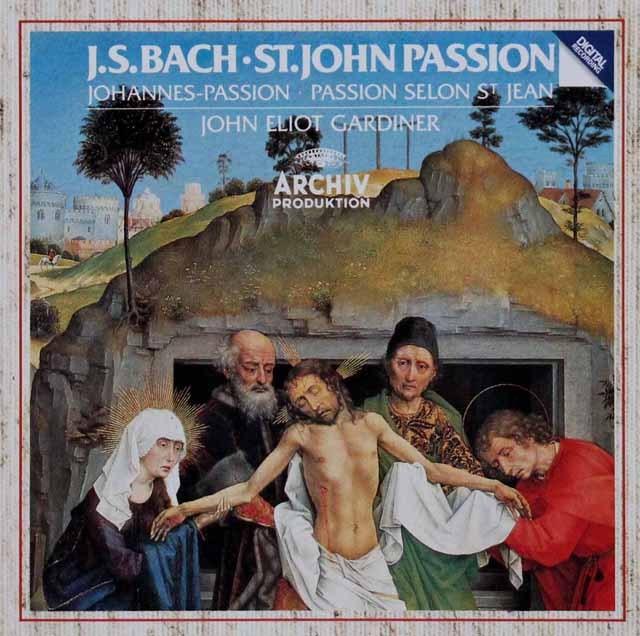 ガーディナーのバッハ/「ヨハネ受難曲」全曲    独ARCHIV 2948 LP レコード