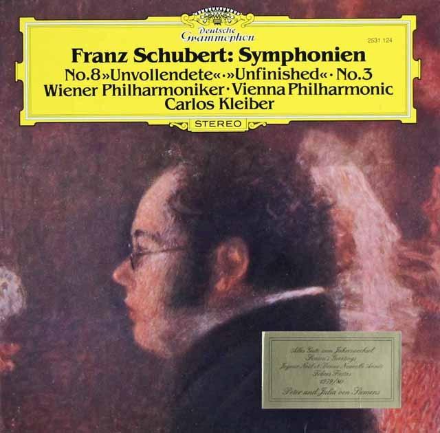 クライバーのシューベルト/交響曲第3&8番「未完成」    独DGG 2948 LP レコード
