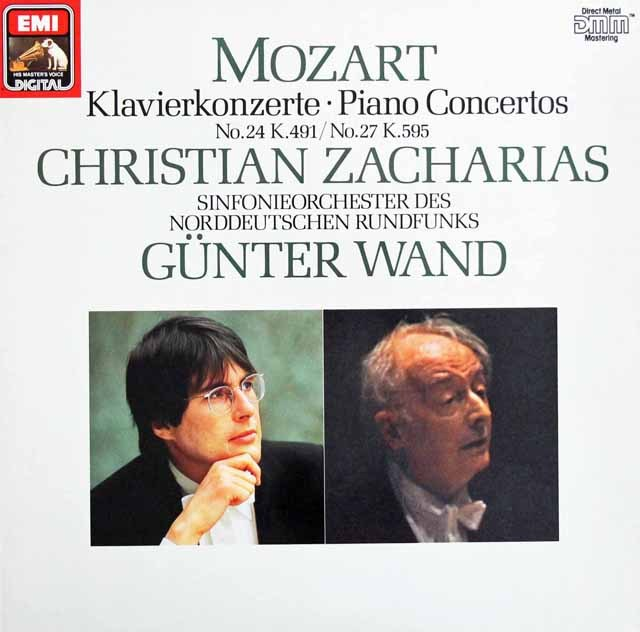 【テストプレス】ツァハリアス&ヴァントのモーツァルト/ピアノ協奏曲第24&27番    独EMI 2948 LP レコード
