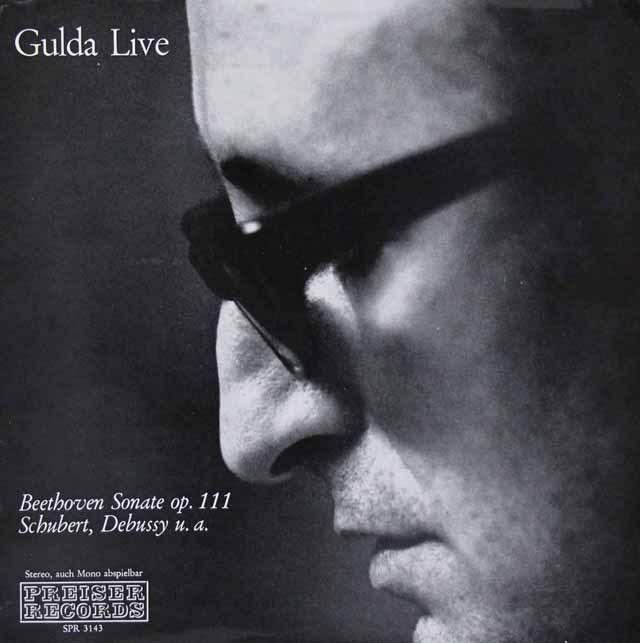 グルダライヴ:ベートーヴェン/ピアノソナタ第32番ほか    オーストリアPREISER RECORDS 2948 LP レコード
