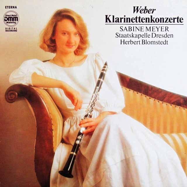 マイヤー&ブロムシュテットのウェーバー/クラリネット協奏曲第1&2番    独ETERNA 2949 LP レコード