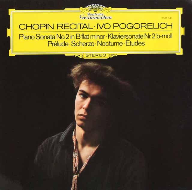 ポゴレリチのショパン/ピアノソナタ第2番ほか    独DGG 2949 LP レコード