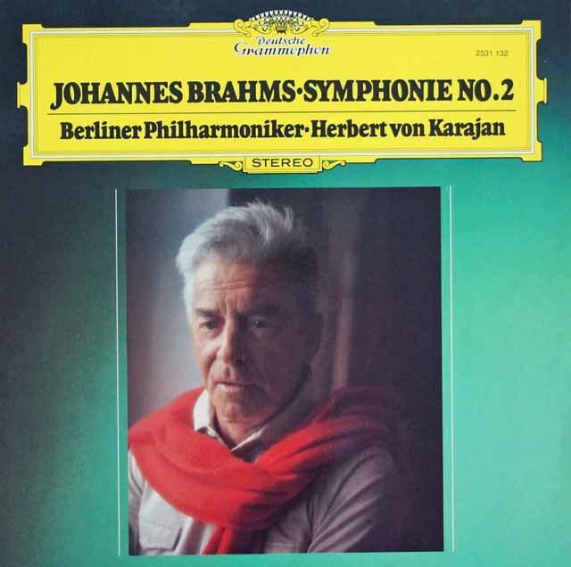 カラヤンのブラームス/交響曲第2番    独DGG 2949 LP レコード