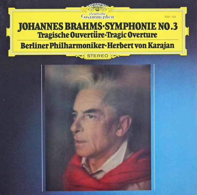 カラヤンのブラームス/交響曲第3番    独DGG 2949 LP レコード