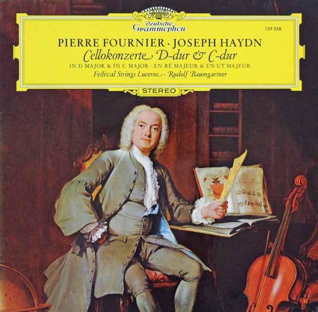 フルニエ&バウムガルトナーのハイドン/チェロ協奏曲第1、2番 独DGG 3395 LP レコード