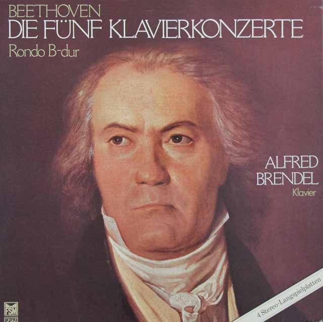 ブレンデルのベートーヴェン/ピアノ協奏曲全集   独FSM 2949 LP レコード