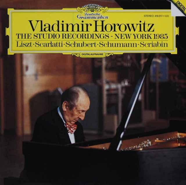 【内袋未開封】「ホロヴィッツ・スタジオ・レコーディングス 1985」   独DGG 2949 LP レコード