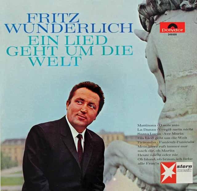 ヴンダーリヒの歌曲集 独polydor 3395 LP レコード